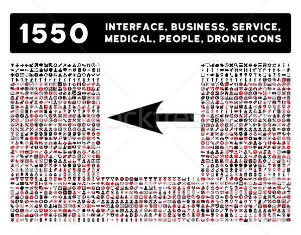 Scherp pijl icon meer interface business Stockfoto © ahasoft