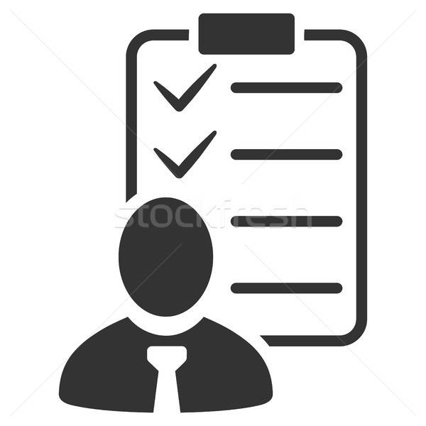 Manager Check List Flat Icon Stock photo © ahasoft