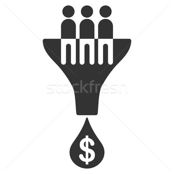Verkoop filteren icon vector stijl grafische Stockfoto © ahasoft