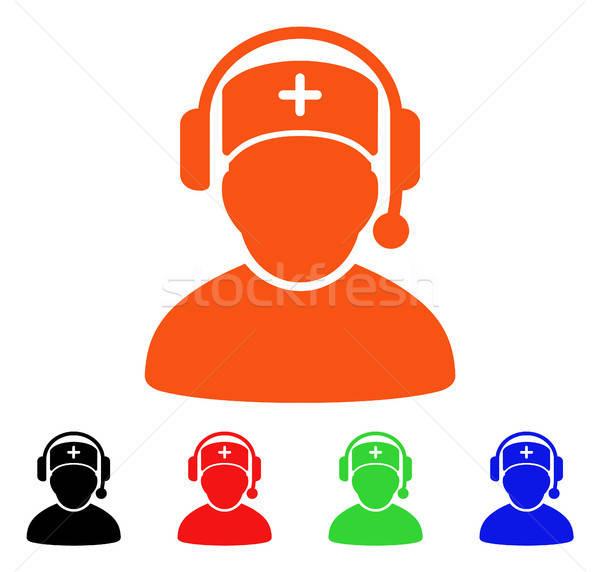 Doctor Call Center Vector Icon Stock photo © ahasoft