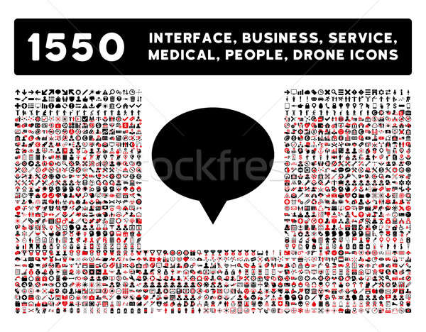 Banner Icon and More Interface, Business, Tools, People, Medical, Awards Flat Glyph Icons Stock photo © ahasoft