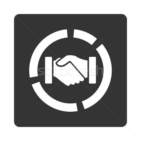 Acquisition diagram icon Stock photo © ahasoft