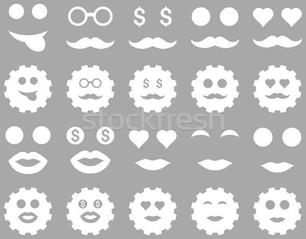 Viselet érzelem ikonok vektor szett stílus Stock fotó © ahasoft