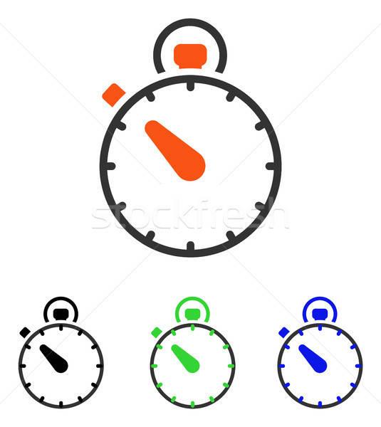 Stopwatch Flat Vector Icon Stock photo © ahasoft