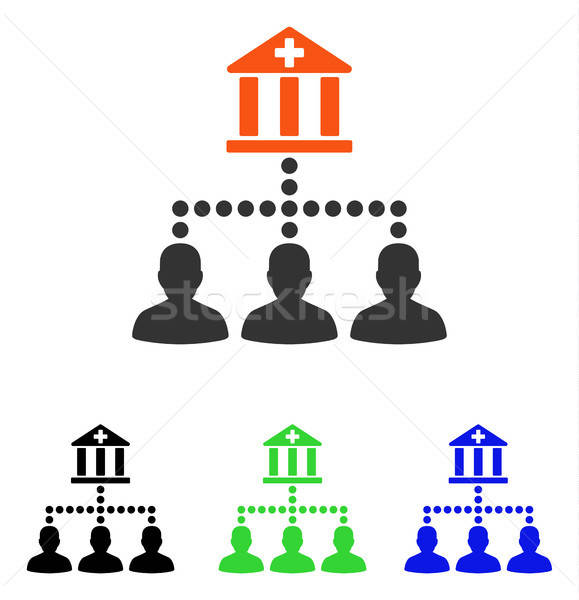 Medical Bank Clients Flat Vector Icon Stock photo © ahasoft