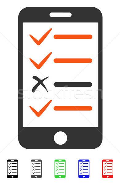携帯 テスト アイコン 色 黒 ストックフォト © ahasoft