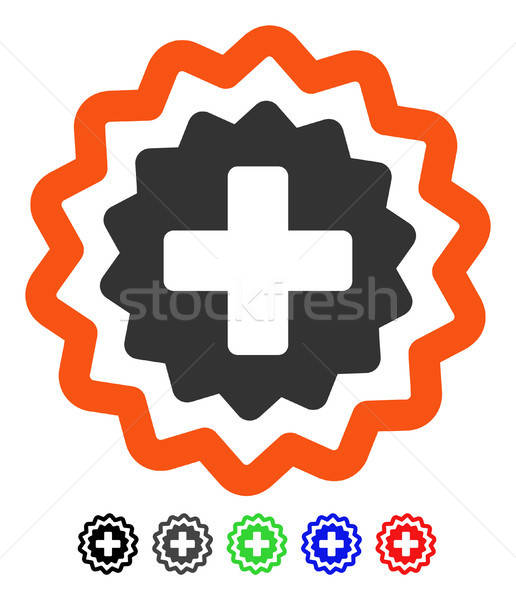Medical Cross Stamp Flat Icon Stock photo © ahasoft