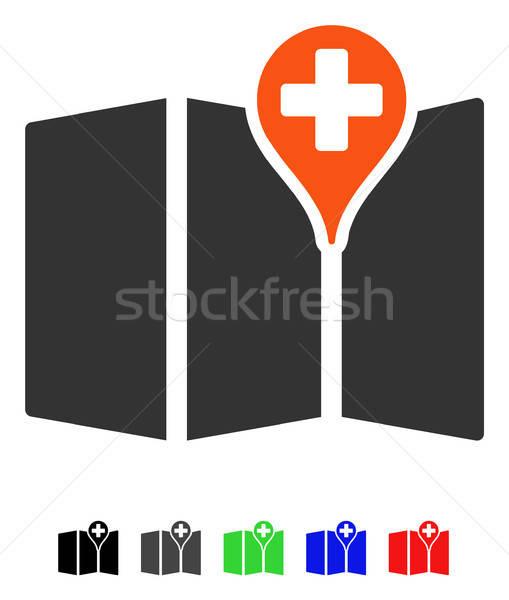 Medycznych Pokaż ikona wektora kolorowy kolor Zdjęcia stock © ahasoft