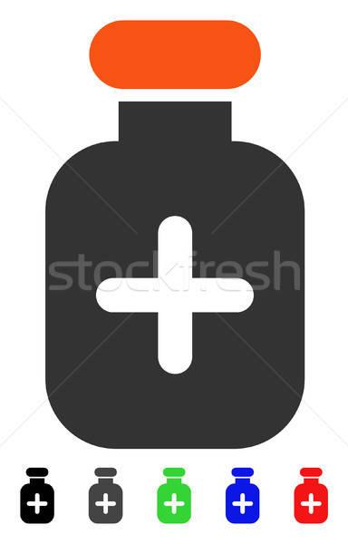 Medication Vial Flat Icon Stock photo © ahasoft