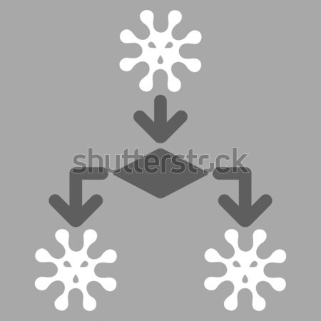 Virus weergave icon vector pictogram gekleurd Stockfoto © ahasoft