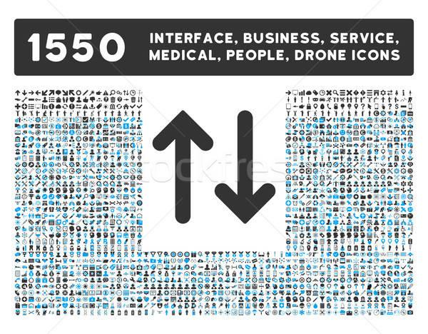 вертикальный икона больше интерфейс бизнеса инструменты Сток-фото © ahasoft