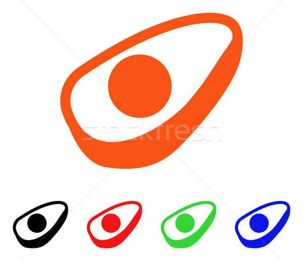 Avokádó fél vektor ikon stílus ikonikus Stock fotó © ahasoft