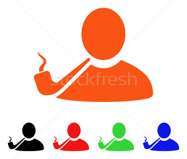 Pipe Smoker Vector Icon Stock photo © ahasoft