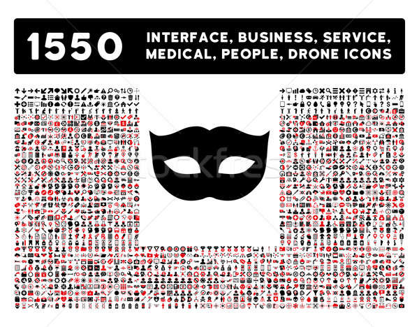 Privacy Mask Icon and More Interface, Business, Tools, People, Medical, Awards Flat Glyph Icons Stock photo © ahasoft