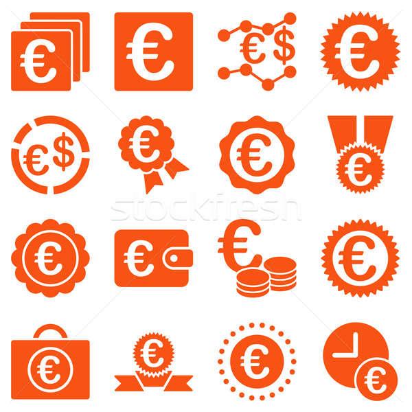 Euro bancário negócio serviço ferramentas ícones Foto stock © ahasoft