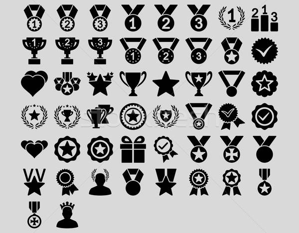 Konkurencja ikona czarny kolor wektora Zdjęcia stock © ahasoft