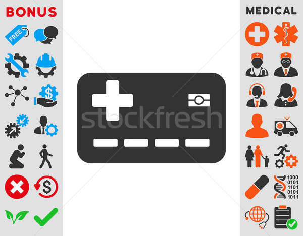 Medical Insurance Card Icon Stock photo © ahasoft
