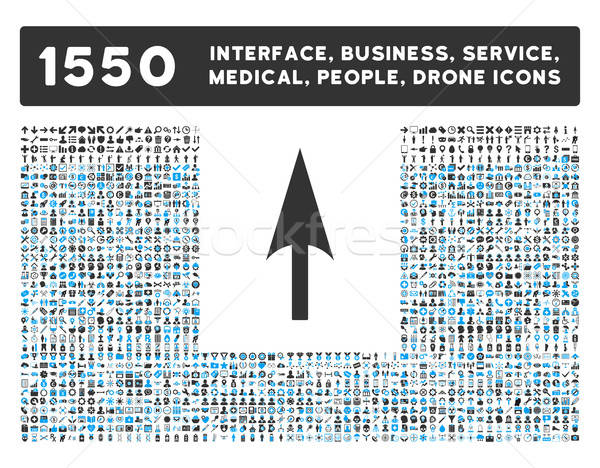 Arrow Axis Y Icon and More Interface, Business, Tools, People, Medical, Awards Flat Vector Icons Stock photo © ahasoft