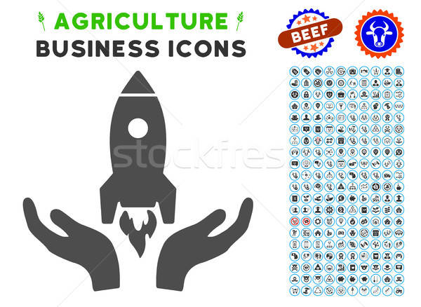 Startup Icon with Agriculture Set Stock photo © ahasoft