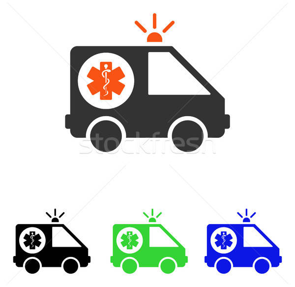 Ambulance auto vector icon pictogram illustratie Stockfoto © ahasoft