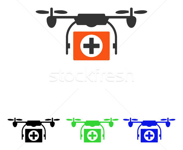 Stock photo: Medical Drone Flat Vector Icon