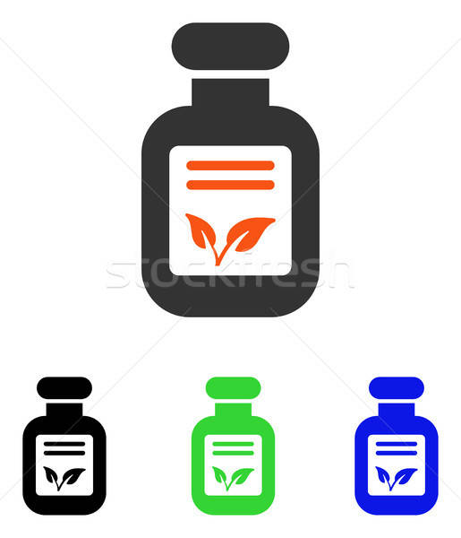 Natural Drugs Flat Vector Icon Stock photo © ahasoft