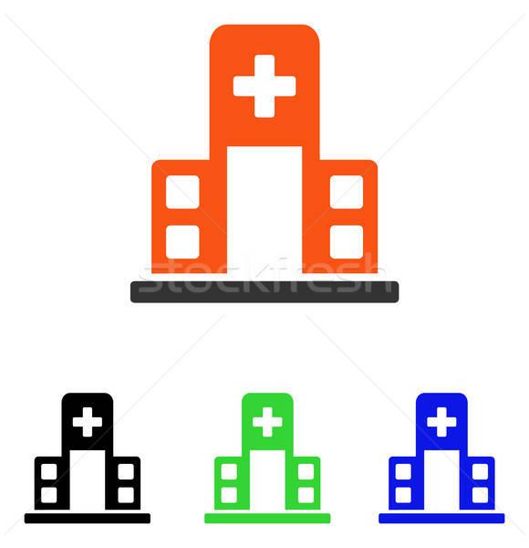 Hôpital bâtiment vecteur icône illustration style Photo stock © ahasoft