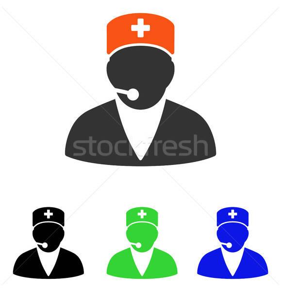 Stock fotó: Orvosi · kezelő · vektor · ikon · illusztráció · stílus