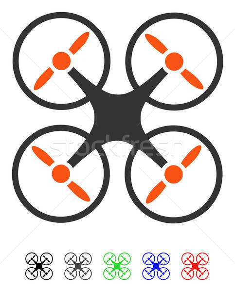 Quadcopter Flat Icon Stock photo © ahasoft