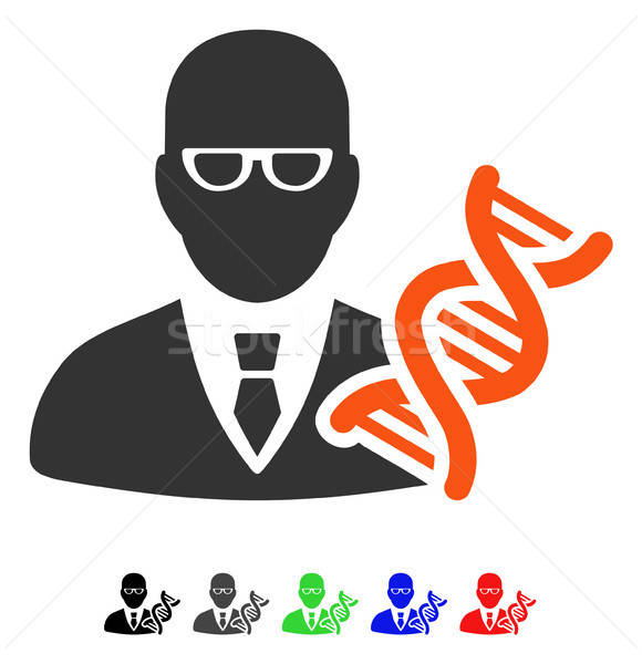 Genetic Engineer Flat Icon Stock photo © ahasoft