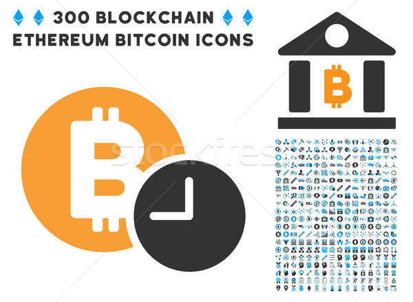 Bitcoin кредитных время икона коллекция Smart Сток-фото © ahasoft