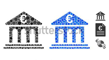 Ethereum Bank Building Flat Icon with Set Stock photo © ahasoft