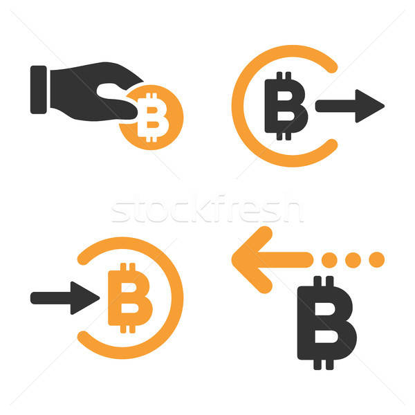 Bitcoinの 支払い ベクトル スタイル 金融 ストックフォト © ahasoft