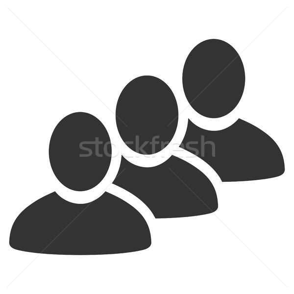 Customer Queue Flat Icon Stock photo © ahasoft