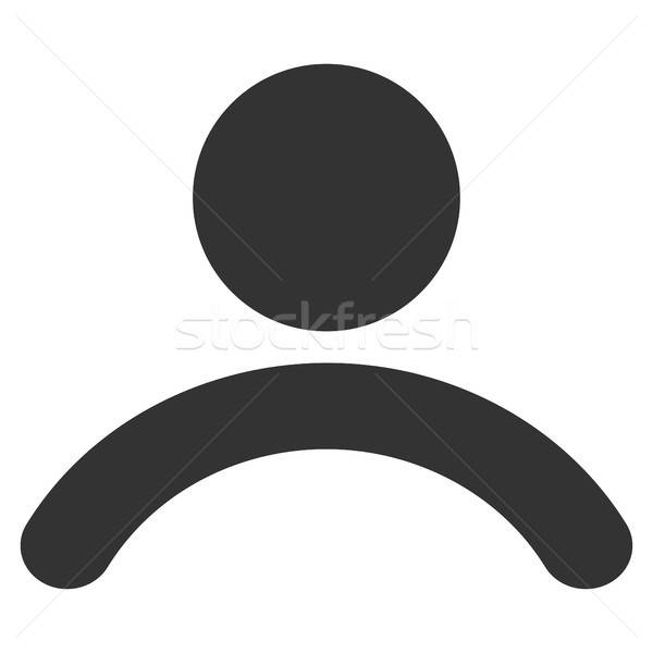 Adam ikon vektör stil grafik gri Stok fotoğraf © ahasoft