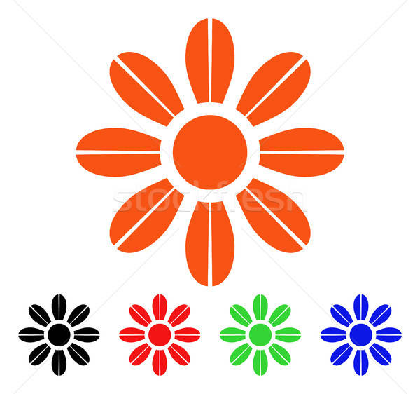 Daisy Flower Vector Icon Stock photo © ahasoft