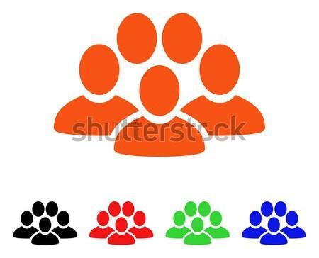 Usuário multidão vetor ícone estilo icônico Foto stock © ahasoft