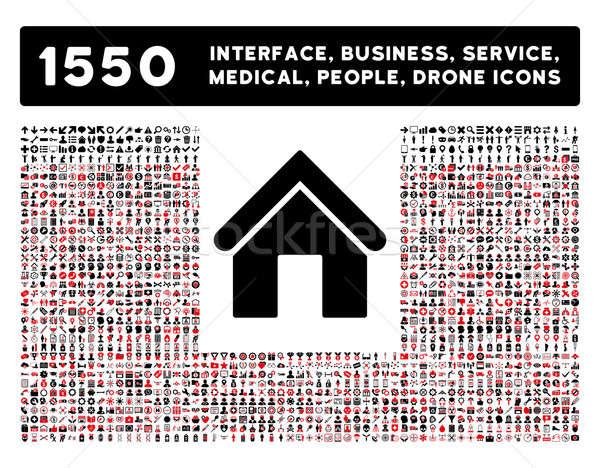 Casa icono más interfaz negocios herramientas Foto stock © ahasoft