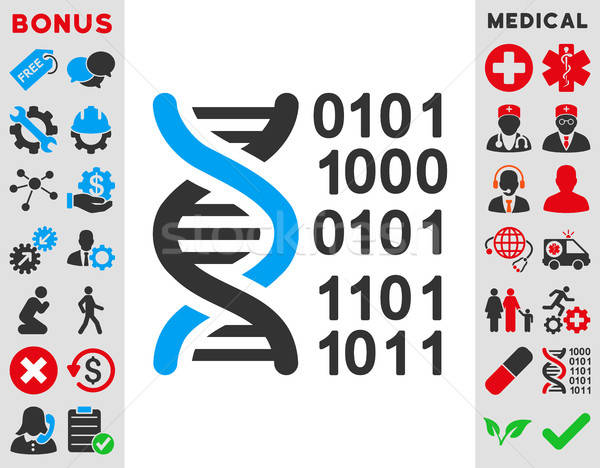 Genoma código ícone vetor estilo símbolo Foto stock © ahasoft