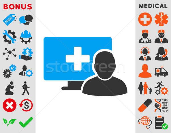 Online Medicine Icon Stock photo © ahasoft