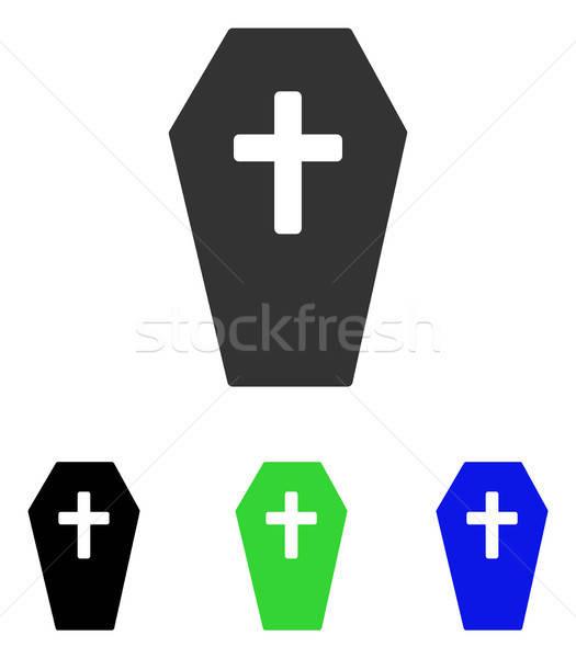 гроб вектора икона иллюстрация стиль iconic Сток-фото © ahasoft
