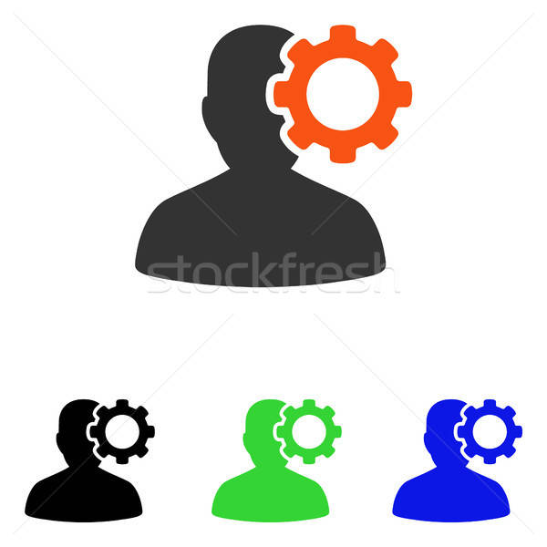 Migrén vektor ikon piktogram illusztráció stílus Stock fotó © ahasoft