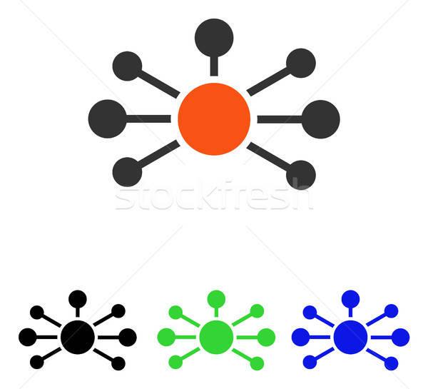 Kontakty wektora ikona ilustracja stylu ikonowy Zdjęcia stock © ahasoft