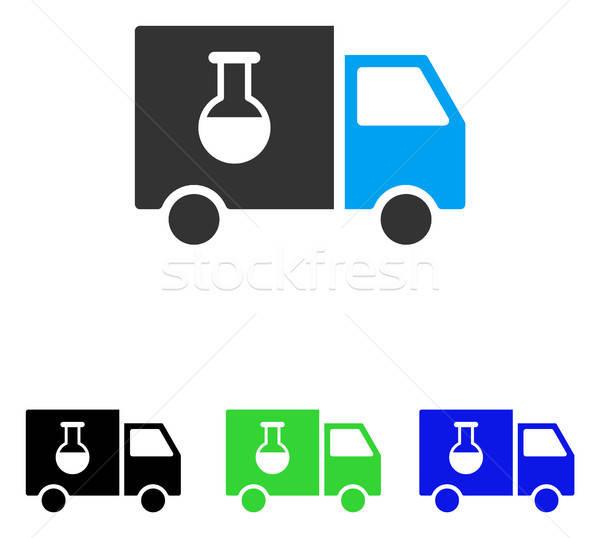 химического грузовик вектора икона иллюстрация стиль Сток-фото © ahasoft