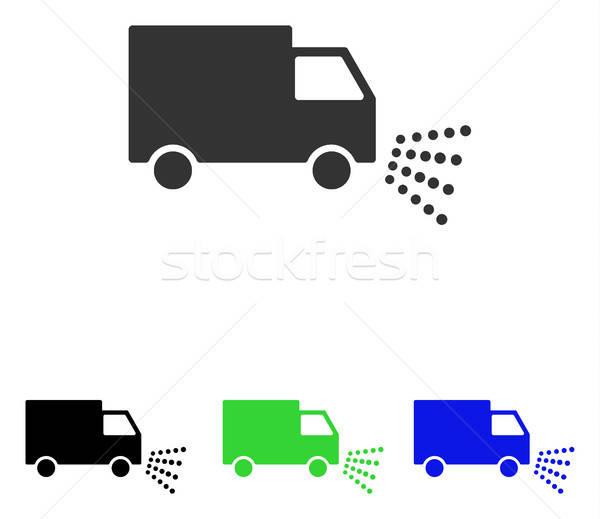 Stockfoto: Wassen · auto · vector · icon · illustratie · stijl