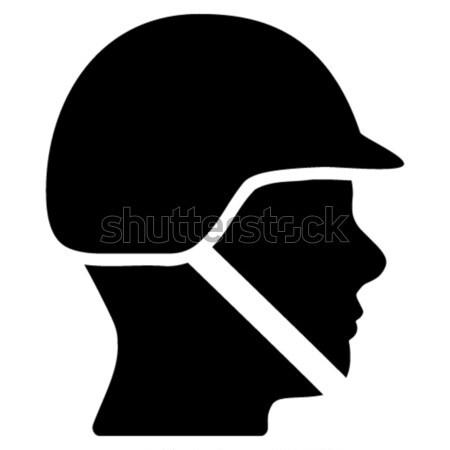 Bald Head Flat Icon Stock photo © ahasoft