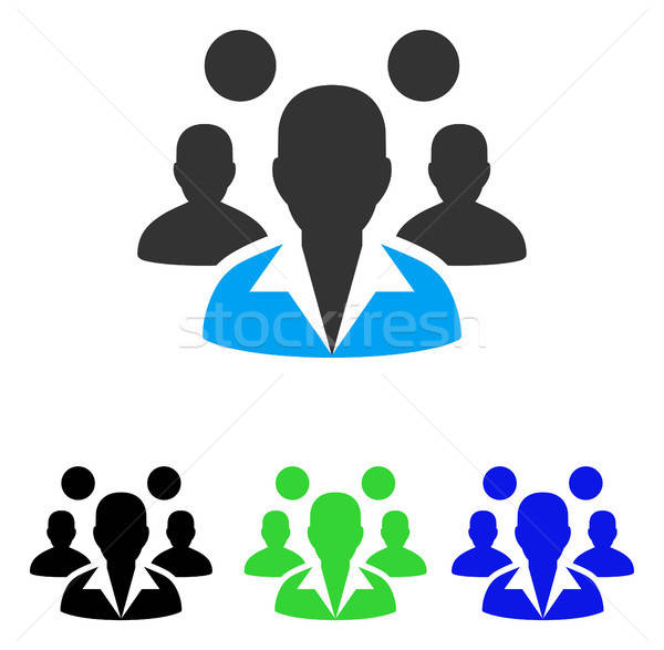 Staff Flat Icon Stock photo © ahasoft