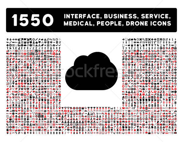 Cloud Icon and More Interface, Business, Tools, People, Medical, Awards Flat Vector Icons Stock photo © ahasoft