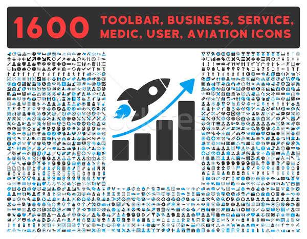 Startup ikon nagy piktogram gyűjtemény egyéb Stock fotó © ahasoft