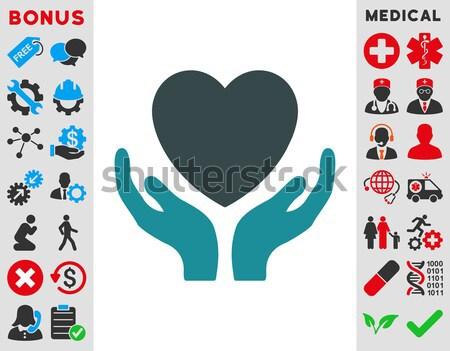 кровь пожертвование икона вектора стиль символ Сток-фото © ahasoft